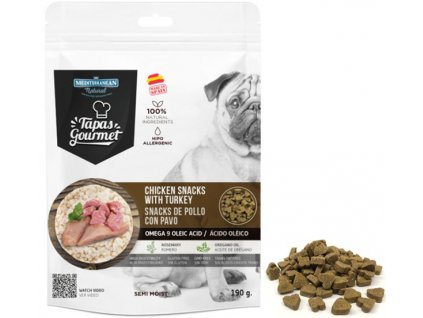 tapas gourmet snack for dog chicken and turkey