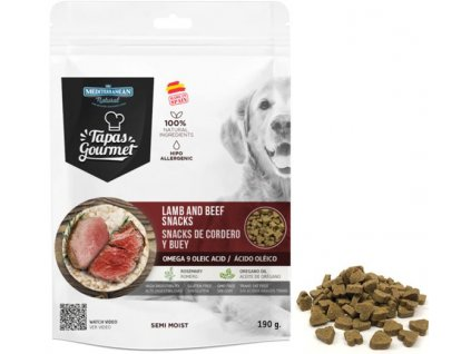 tapas gourmet snack for dog lamb and beef