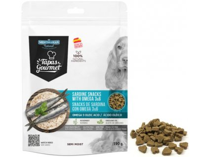 tapas gourmet snack for dog sardine with omega 3a6