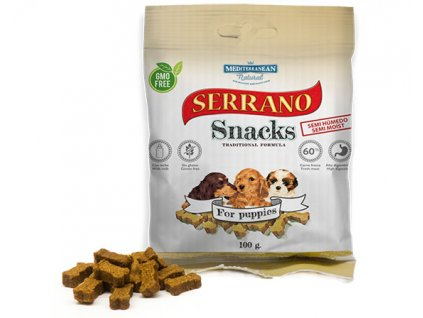 Serrano Snacks Mediterranean Natural for puppies cachorros bolsita