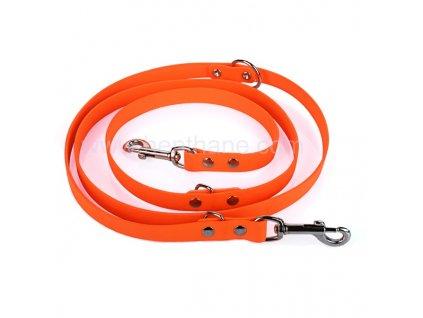 Vodítko oranžové přepínací PVC