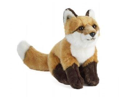plyšák liška sedící velká