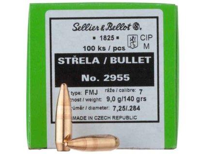 střela 2955 FMJ r.7mm, 9.1g