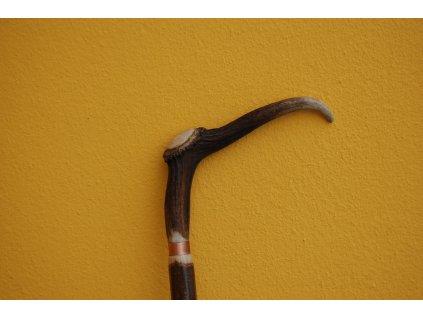 hůl sukovice - lísková - kovový hrot