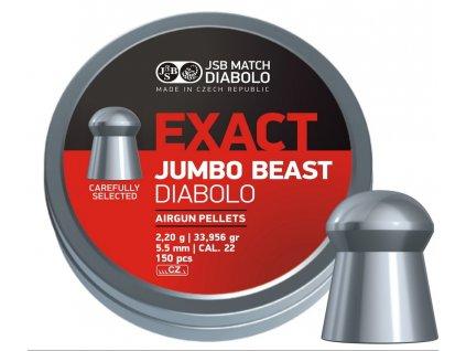 Diabolky 5,52mm JSB Exact Beast 250ks