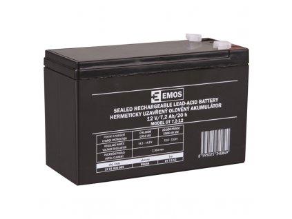 Baterie 12V 7,2Ah fast 4,7mmn