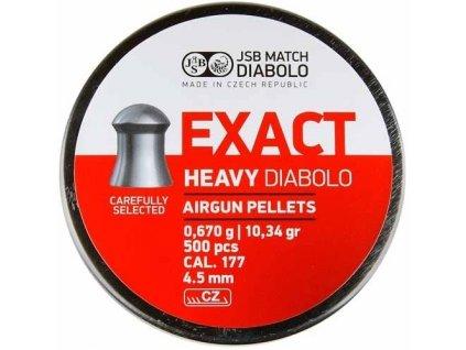 Diabolky 4,52mm JSB Exact Heavy 500ks