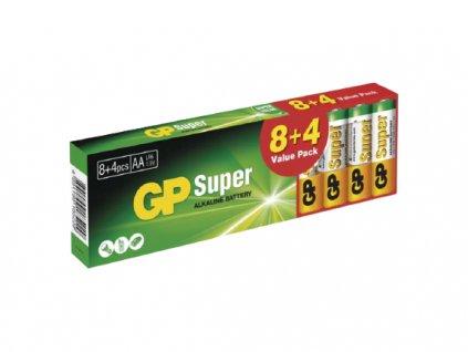 Alkalické baterie GP Super AA 12ks