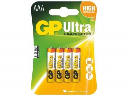 Alkalické baterie GP Ultra AAA
