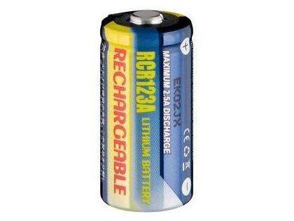 baterie CR123A nabíjecí Li-FE 3V 500mAH