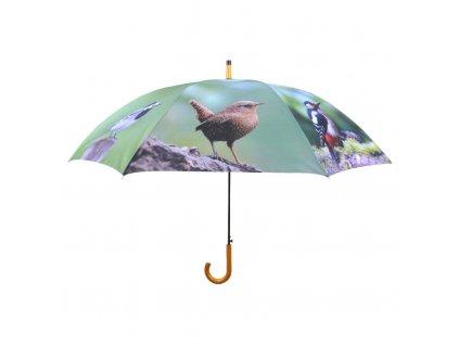Deštník vystřelovací velký Ptáčci