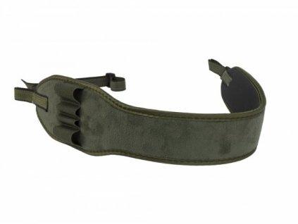 Řemen na zbraň neopren s držákem na 2 kulové a 2 brokové náboje zelený