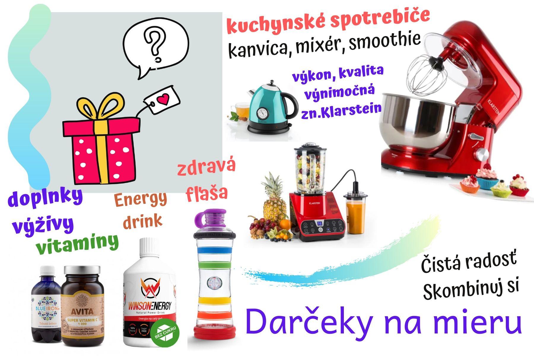 Darček na mieru, kuchynské spotrebiče Klarstein, vitamíny, energy drink