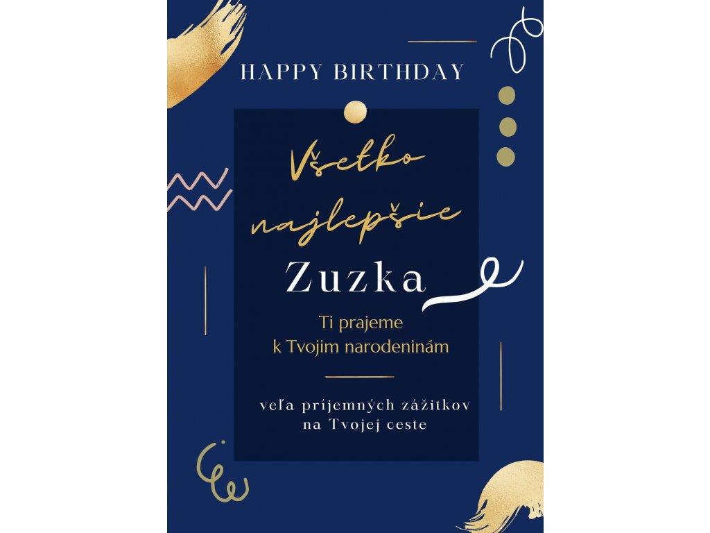 eshop k narodeninám modrý bez citátu Zuzka 4