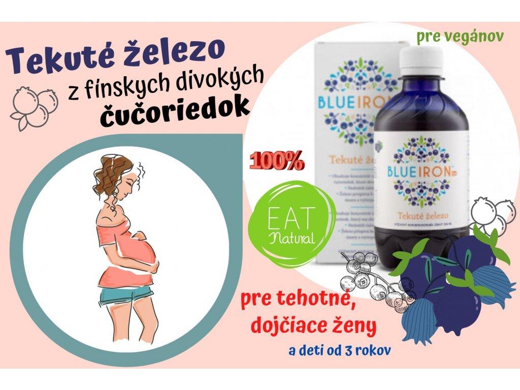Tekuté železo BLUE IRON pre tehotné