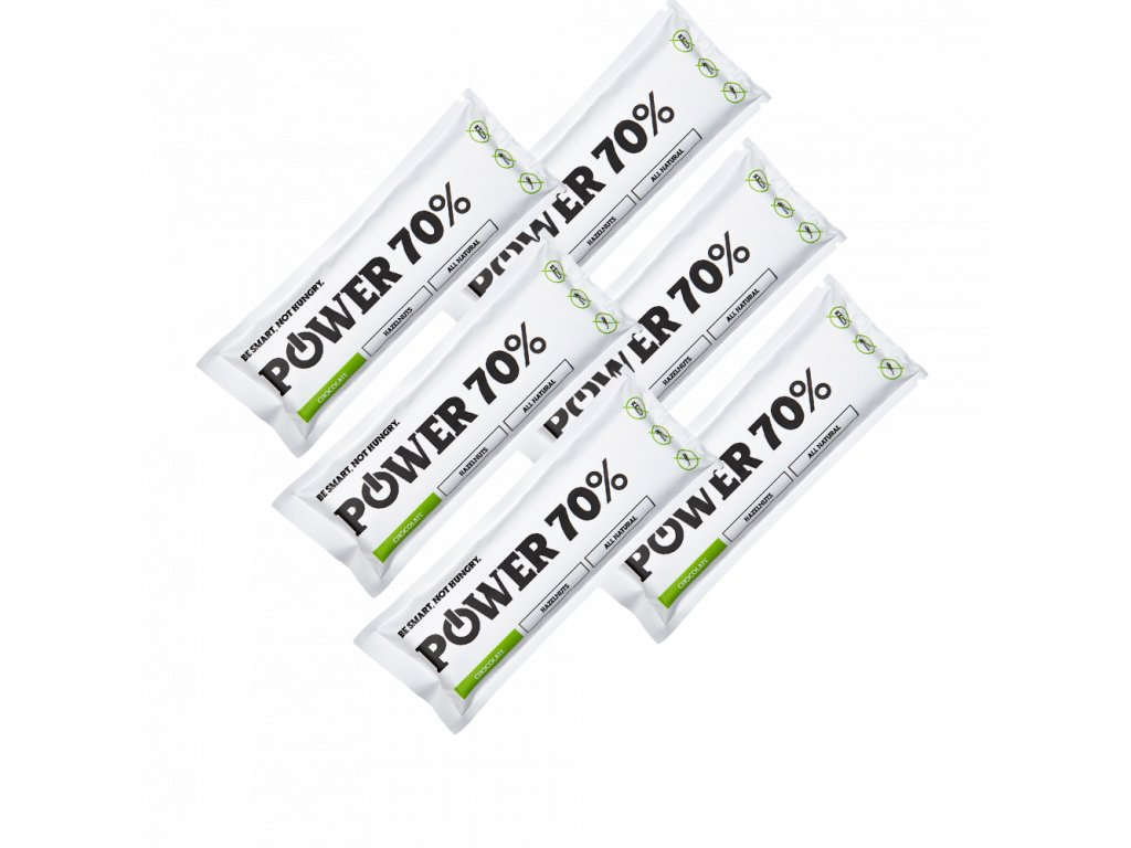 power70 6 pack čkoládová tyčinka chocobar 70%