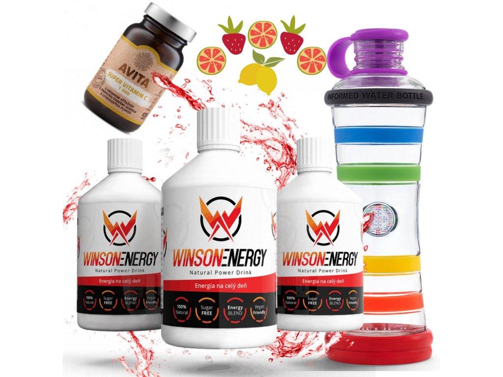 DAR 2 Winson energy 3 ks,vitamín C a duhová I9 flaša – kópia