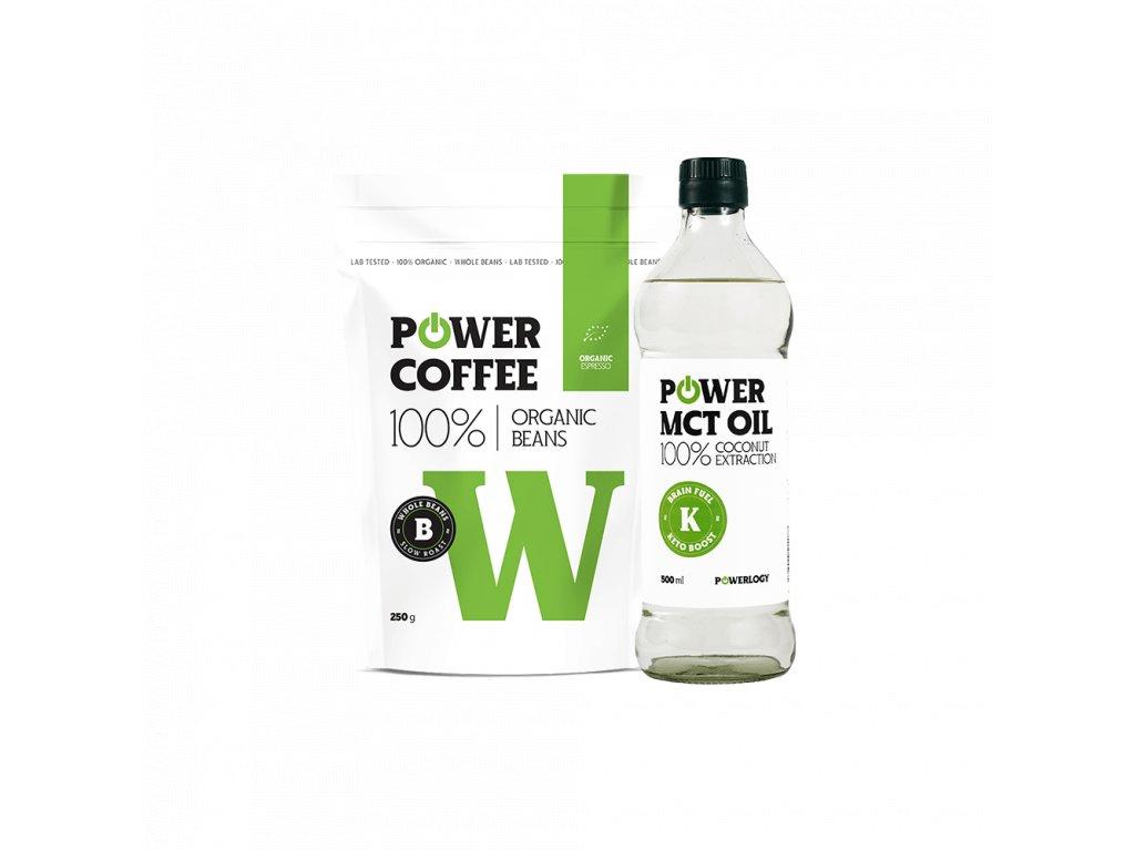 Powerlogy coffee plus MCT olej combo mockup new