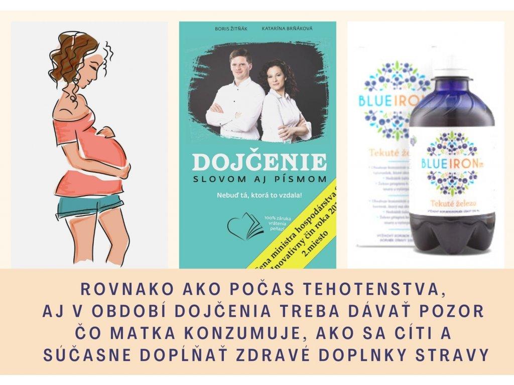 Kniha dojčenie a blue iron