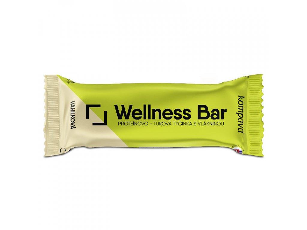 Tyčinka wellness bar 2 vanilkova 60 g