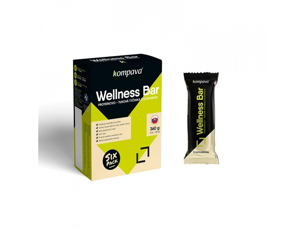 Tyčinka wellness bar Balenie 6x60g čokoládová