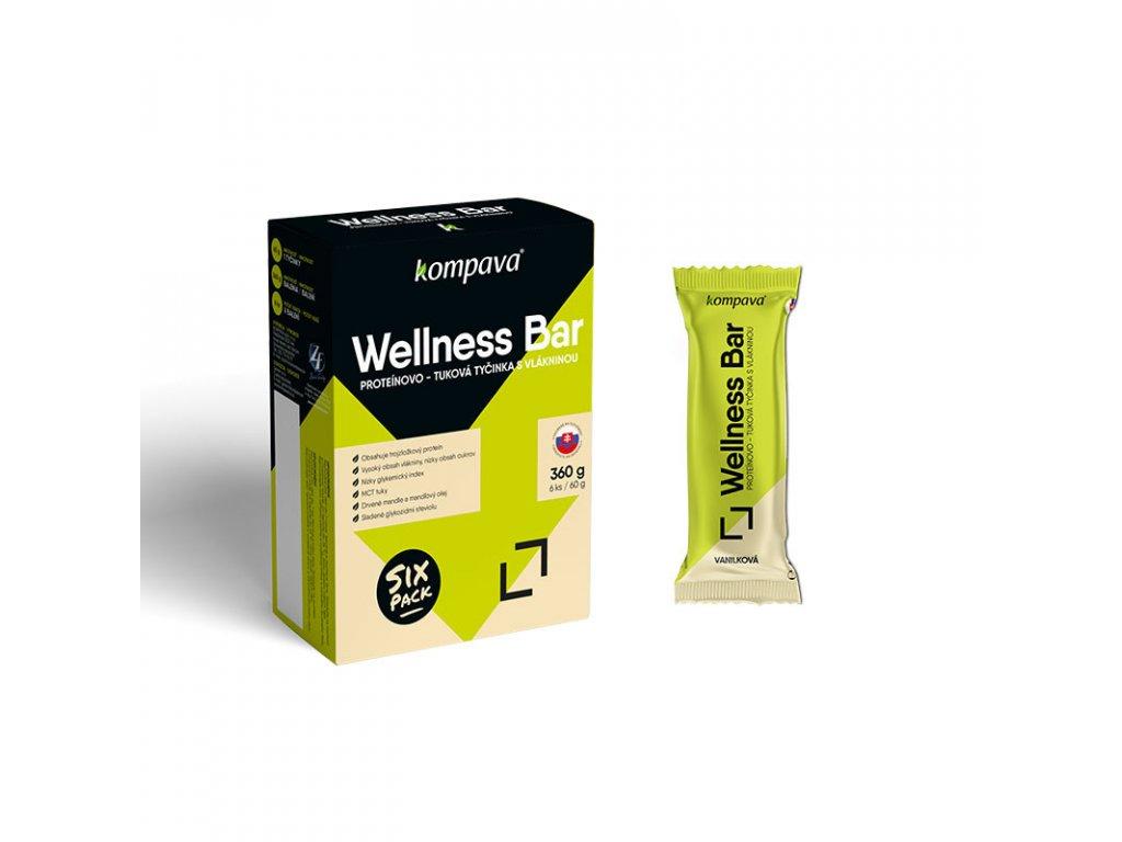 Tyčinka wellness bar Balenie 6x60g vanilkova