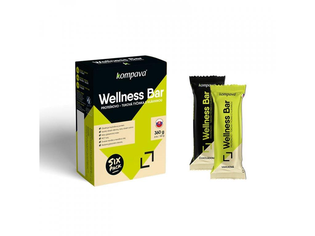 Tyčinka wellness bar Balenie 3x60g čokoládová 3x 60 g vanilková