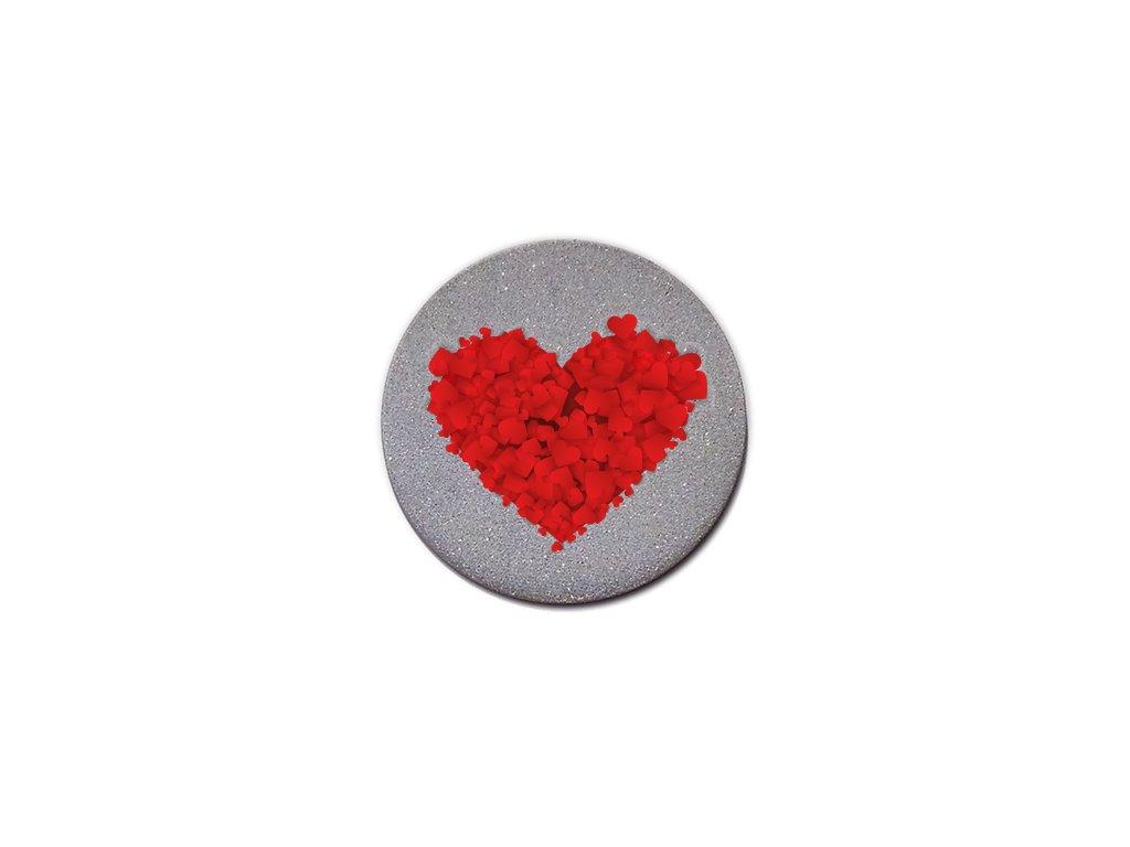 reflexný odznak srdce