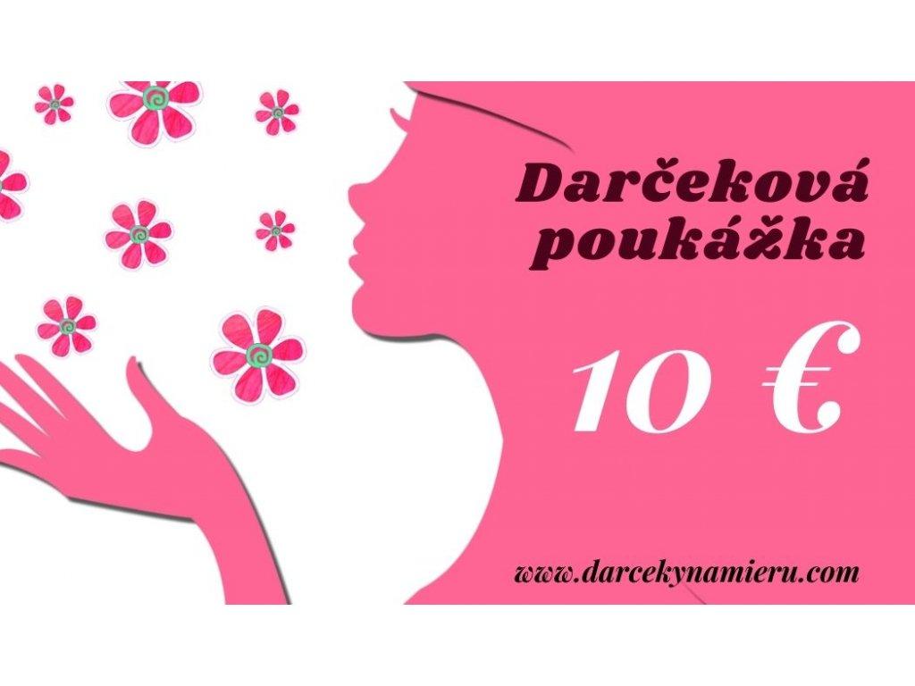 Darčeková poukážka ružová dáma 10 €