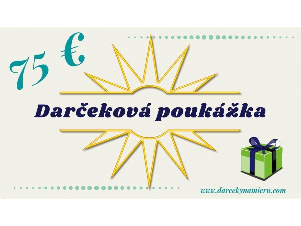 Darčeková poukážka ružová dáma 75 eur