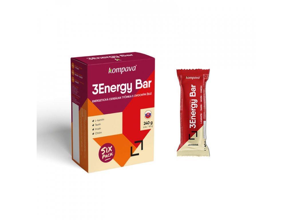 3 energy bar jahoda kompava