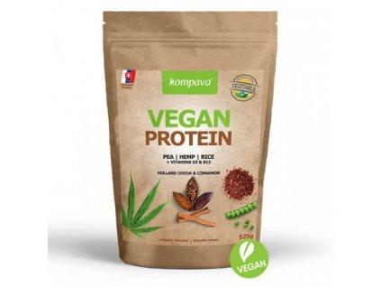 vegan protein cokolada skorica