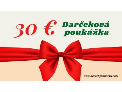 Darčeková poukážka mašla 30 € vizitka
